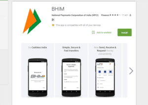 BHIM download and register