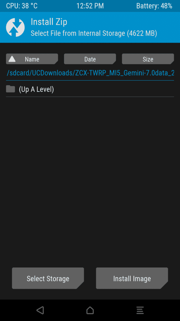 install image via twrp