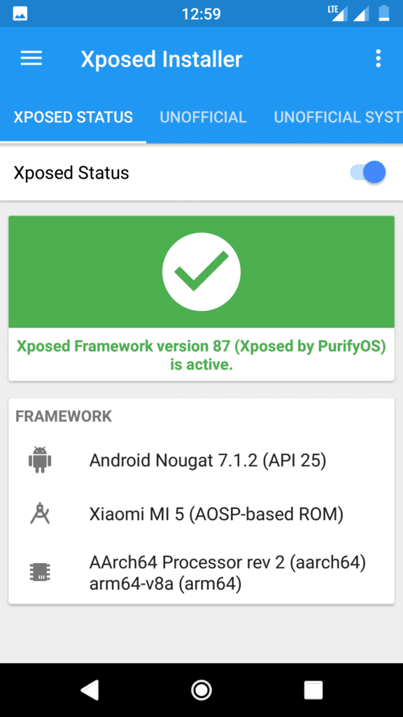 systemless xposed for nougat