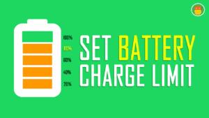 set battery charging limit