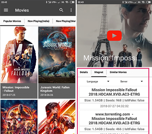 Torrent Villa APK Movies Download