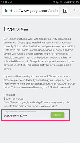 enter gsf for device is uncertified error